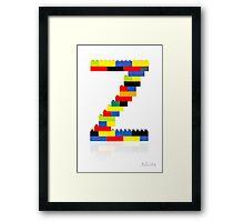 """""""Z"""" Framed Print"""