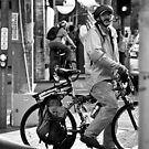 Old-school Cyclist by Anthony Evans