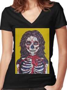 Trudging through oblivion WIP Women's Fitted V-Neck T-Shirt