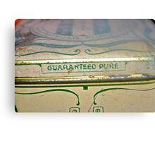 Guaranteed Pure .. relics of past & what lies within Canvas Print