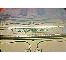 Guaranteed Pure .. relics of past & what lies within Photographic Print