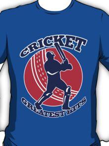 cricket player batsman batting greatest hits retro T-Shirt