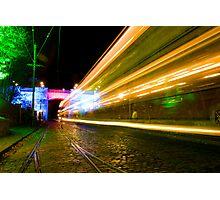 Tram Light Trail Photographic Print