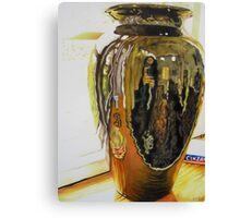 Black Vase (Self Portrait) Canvas Print