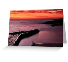 Cullercoats Sunrise 2 Greeting Card