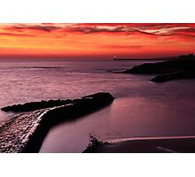 Cullercoats Sunrise 2 Photographic Print
