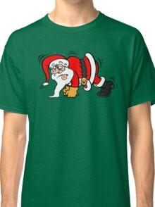 Santa Claus Doing Pushups Classic T-Shirt