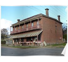 Hosies Bed & Breakfast and Cafe, Hill End Poster