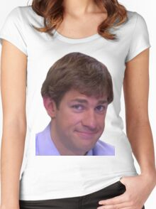 Jim's Smirk - The Office Women's Fitted Scoop T-Shirt