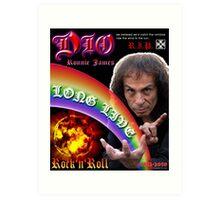 Ronnie James DIO Art Print