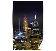 Melbourne City Lights Poster