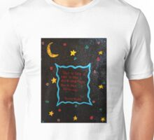 Black cat in the darkness. Unisex T-Shirt