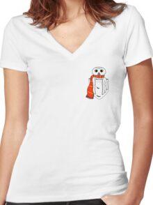 Pocket Hedwig Women's Fitted V-Neck T-Shirt
