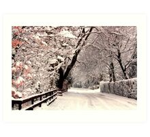English Snow Scene Art Print