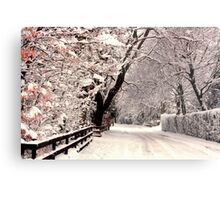 English Snow Scene Metal Print