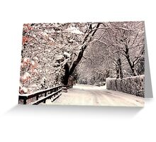 English Snow Scene Greeting Card