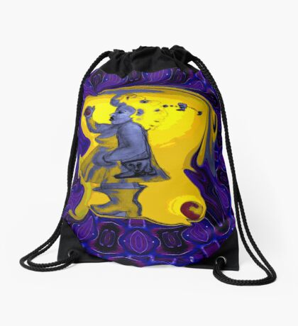 Perry Normal In Purple Maze Drawstring Bag