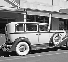 Packard Super Eight B&W by George Petrovsky