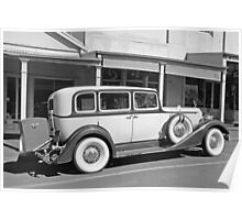 Packard Super Eight B&W Poster