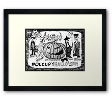 Occupy Halloween cartoon Framed Print