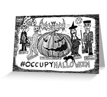 Occupy Halloween cartoon Greeting Card