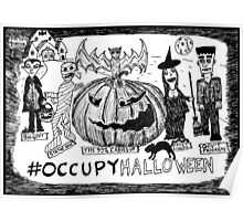Occupy Halloween cartoon Poster