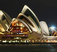 Sydney Opera House at Night. by Harry Roma