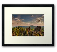 Bastei Framed Print