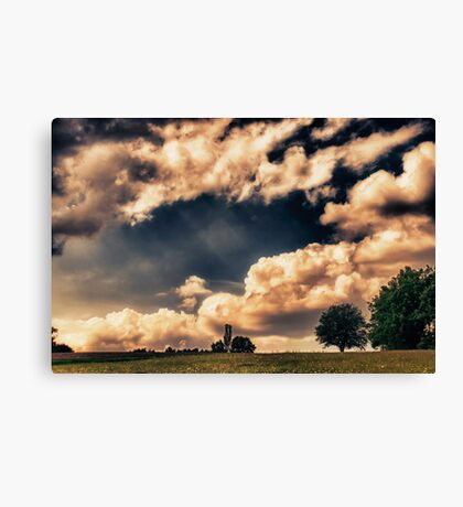 Late Summer Clouds Canvas Print