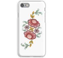 'Irish Rose' embroidery on white iPhone Case/Skin