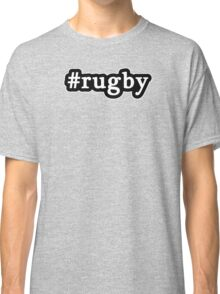 Rugby - Hashtag - Black & White Classic T-Shirt