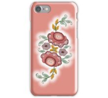 'Irish Rose' embroidery on pink iPhone Case/Skin