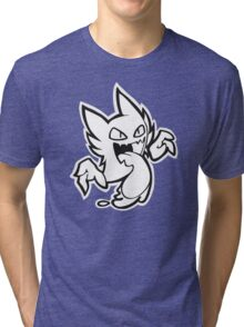Haunter - Black and White Tri-blend T-Shirt
