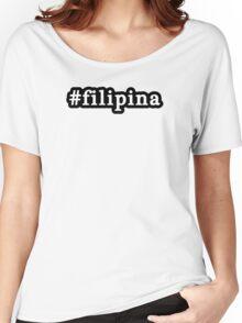 Filipina - Hashtag - Black & White Women's Relaxed Fit T-Shirt