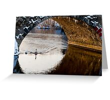A winter scene, Graiguenamanagh, County Kilkenny, Ireland Greeting Card
