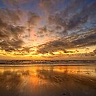 Sunset at Julianabeach by Hetty Mellink