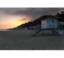 Lifeguard Hut Bournemouth Beach Photographic Print