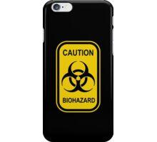 Caution Biohazard Sign - Yellow & Black - Rectangular iPhone Case/Skin