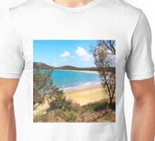 Idyllic bay seen through trees Unisex T-Shirt
