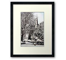 Ormskirk Parish Church During a Snowy Winter Framed Print