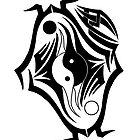 Tribal Yin Yang by DaMILKM4N