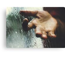 Rainy day woman Canvas Print