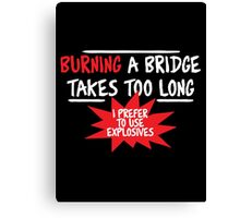 Bridge fun Canvas Print
