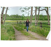 Walk near by dandelion meadow. Poster