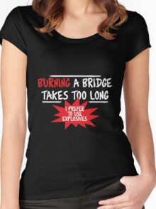 Bridge fun Women's Fitted Scoop T-Shirt