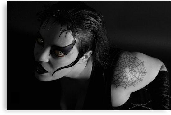 Black widow hungry by KERES Jasminka