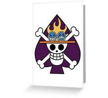 flag purple Greeting Card