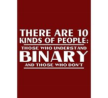Binary people Photographic Print
