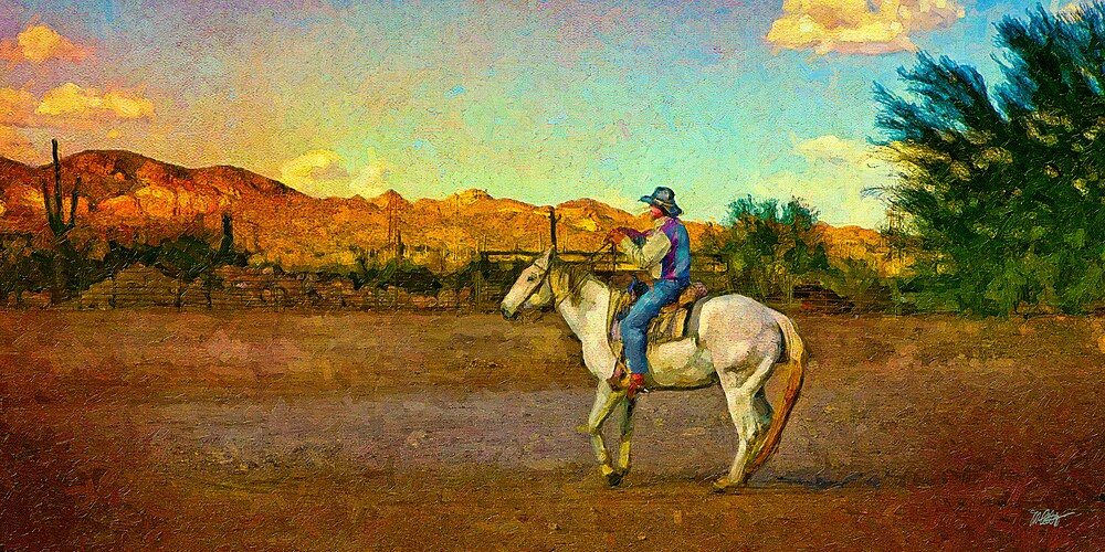A Man And His Horse by Michael  Petrizzo