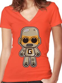 Gadget Mascot Women's Fitted V-Neck T-Shirt